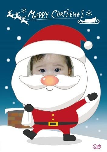 へんしんパネル サンタ,おうち,クリスマス,