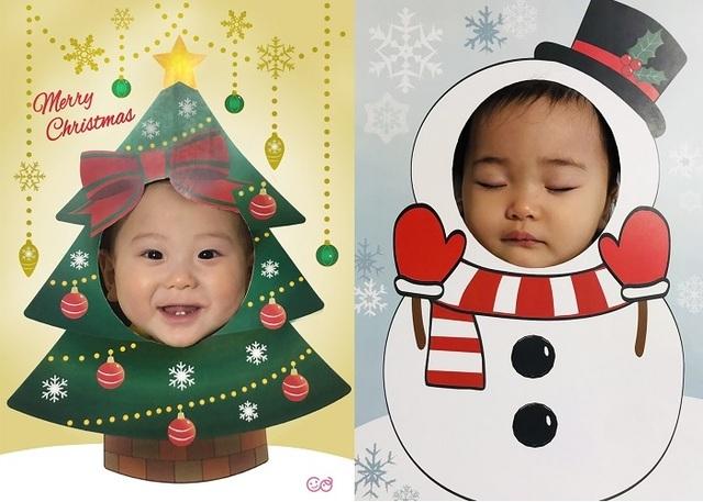 へんしんパネル 笑顔寝顔,おうち,クリスマス,