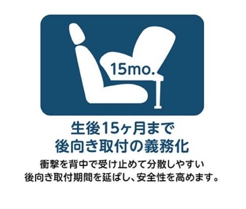 生後15ヵ月まで後向き取付けの義務化,チャイルドシート,安全基準,出産準備