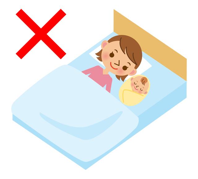 ベッドでの添い寝はダメ,ベビーベッド,出産準備,赤ちゃん