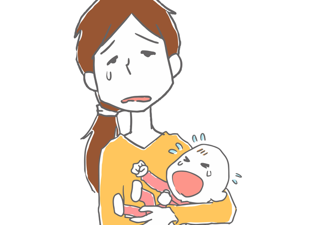 なんで泣いているのかわからない,赤ちゃん,泣く,