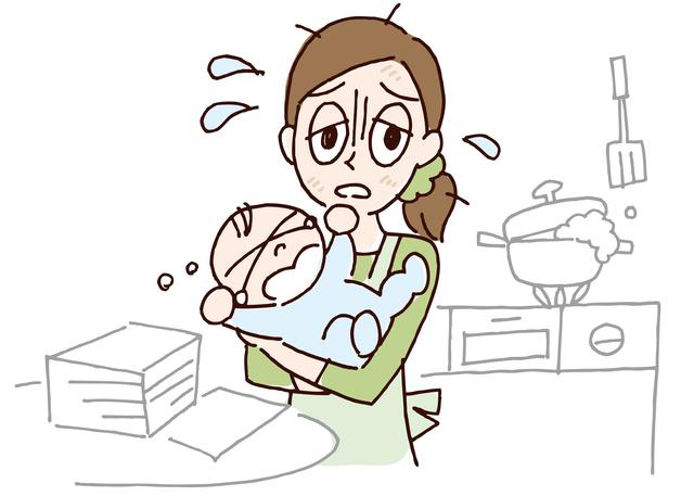 赤ちゃんを世話しながら家事がうまく回らない,赤ちゃんとの生活,大変,