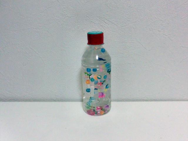 フローティングボトル・ガラガラ,赤ちゃん,おもちゃ,作り方
