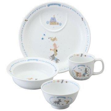 NARUMI(ナルミ) 子ども用 食器セット ブレーメン ブルー 4個セット 電子レンジ オーブン対応 日本製 7980-33139,ベビー食器,おすすめ,