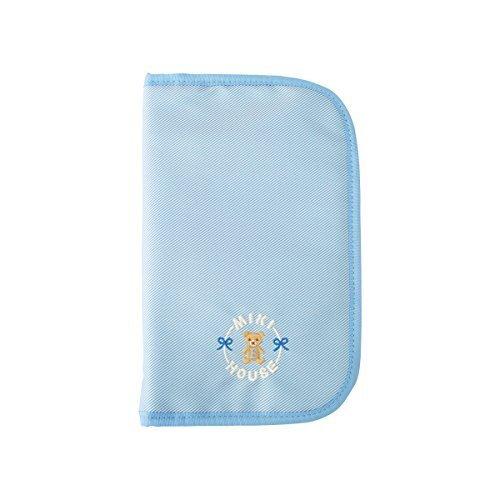 ミキハウス (MIKIHOUSE) マザーダイアリーケース 40-8248-246 L ブルー,母子手帳ケース,おすすめ,