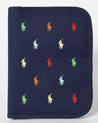 ラルフ ローレン (RALPH LAUREN) 母子手帳ケース ネイビー ブルー マルチ 刺繍 B90 複数ロゴ,母子手帳ケース,おすすめ,