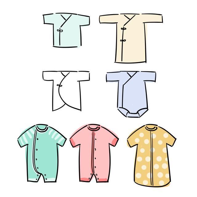 赤ちゃんの洋服の種類,服選び,赤ちゃん,季節