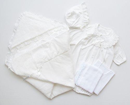 新生児 退院時 お宮参り用 ベビードレス・ベビーアフガン他5点セット シンプルデザイン,お宮参り,