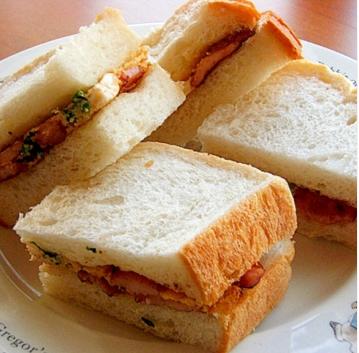 英国サンドイッチを簡単アレンジ,朝ごはん,10分,レシピ