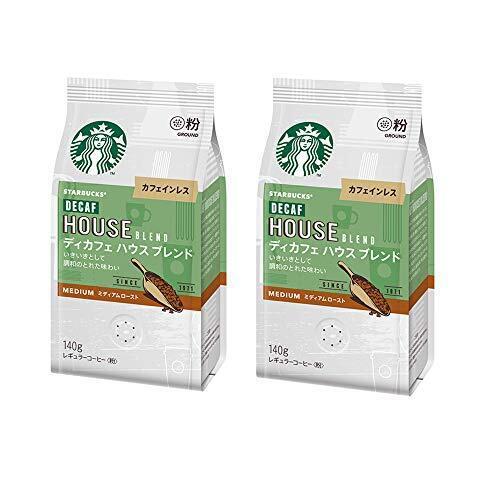 スターバックス コーヒー ディカフェ ハウス ブレンド 140g ×2袋,ノンカフェイン,コーヒー,