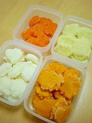 【離乳食初期】基本野菜のマッシュ、4種。,離乳食,進め方,