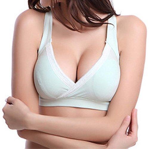 hanano 産前 産後 妊婦 マタニティ 授乳 ブラジャー 下着 クロスタイプ (XL, ライトブルー),授乳ブラ,おすすめ,