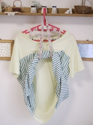 授乳ストラップの利用イメージ3,シュシュ,作り方,授乳ストラップ