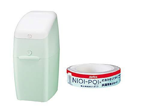 アップリカ(Aprica) 強力消臭 おむつ ごみ箱 ニオイポイ(NIOI-POI) ペールミント カセット1個付 2022830,おむつ,ゴミ箱,