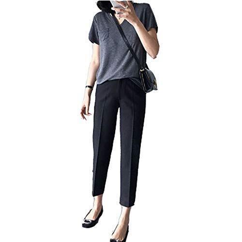 Ymgot マタニティパンツ ボトムス ズボン 9分丈 調節可能 スラックス スーツ オフィス 妊婦服 産前 産後 通勤服 (M),マタニティパンツ,