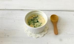 離乳食に☆ツナと小松菜のミルク茶碗蒸し,離乳食,茶碗蒸し,