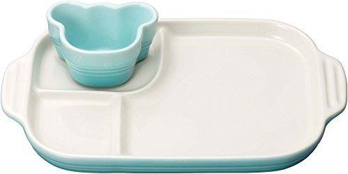 ルクルーゼ 皿 ベビー マルチプレート & ラムカン パステル ブルー 910349-00-122 【日本正規販売品】,離乳食,茶碗蒸し,