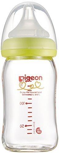ピジョン Pigeon 母乳実感 哺乳びん 耐熱ガラス製 ライトグリーン 160ml 0ヵ月から おっぱい育児を確実にサポートする哺乳びん,哺乳瓶,選び方,