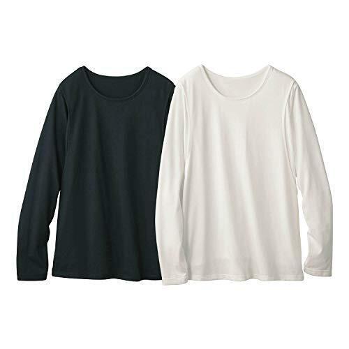 [ベルメゾン] マタニティ Tシャツ 2枚 セット 長袖 授乳 産後 Tシャツ・カットソー対応 産後 Tシャツ・カットソー ブラック+オフホワイト M,マタニティ,トップス,おすすめ