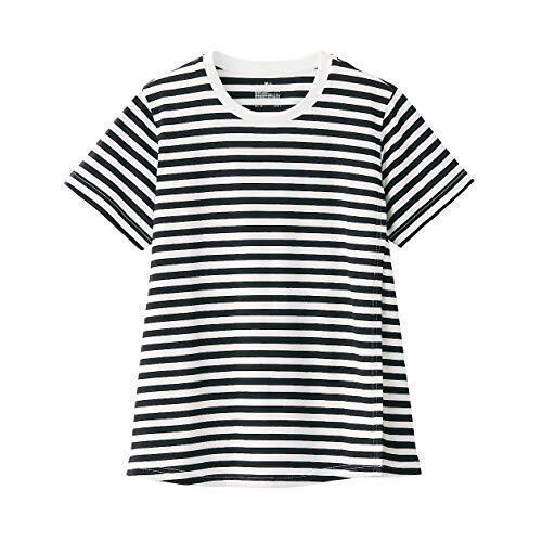 無印良品 Tシャツ コットンレーヨン天竺授乳に便利な半袖Tシャツ マタニティ レディース 82757897 黒×ボーダー M~L,マタニティ,トップス,おすすめ