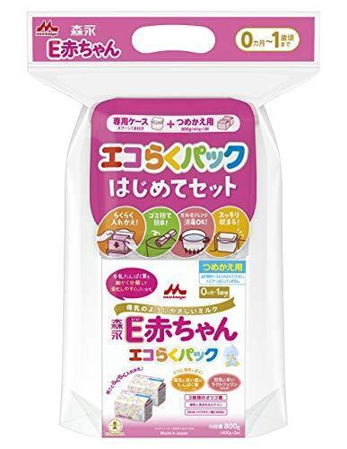 森永 E赤ちゃん エコらくパック はじめてセット 800g (400g×2袋),粉ミルク,口コミ,
