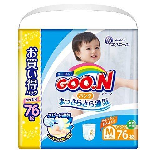 【Amazon.co.jp限定】グーン パンツ M (6~12kg) 76枚 まっさらさら通気,おむつ,パンツ,