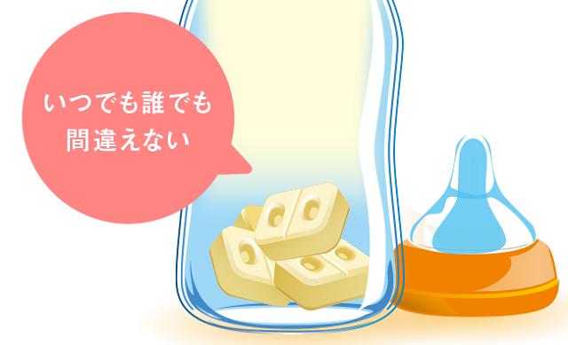 明治ほほえみ らくらくキューブ,ミルク,授乳,
