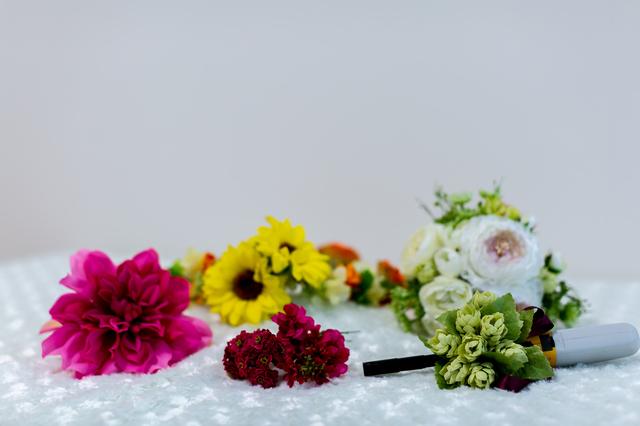 造花 手作り,マタニティフォト,衣装,