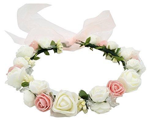 ハナ(HANA) お花の 冠 花冠 ヘッドドレス 髪飾り ヘアアクセサリー ウェディング ダンス衣装 ライブ フェス パーティーなどイベントに,マタニティフォト,衣装,