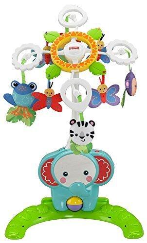 フィッシャープライス 【日本正規品】 レインフォレスト4WAYごきげんメリー(BFR22),ベビーベッド,おもちゃ,メリー