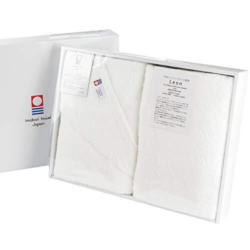 ブルーム 今治タオル認定 レオン バスタオル 2枚セット サンホーキン綿使用 厚手 高級タオル ホテル仕様 タオル ギフトセット 箱入り 日本製 (ホワイト),出産祝い,お返し,