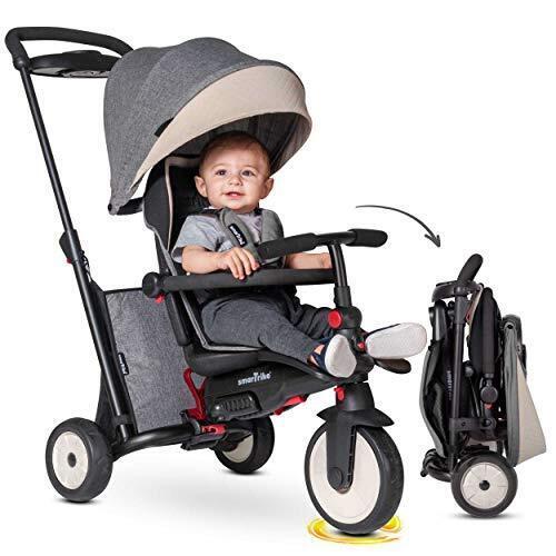 スマートライク STR5 三輪車 1歳 超コンパクト 折りたたみ 6か月~使える【日本正規品】 (グレー),三輪車,1歳,