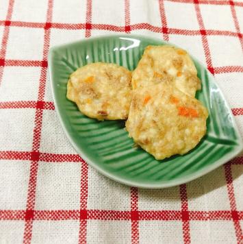 【離乳食後期】ツナと豆腐と人参の和風おやき,離乳食,後期,豆腐