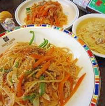 お鍋一つナポリタン(取り分け離乳食レシピつき)♪,離乳食,取り分け,レシピ