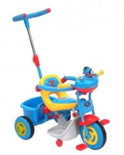 上尾工業 きかんしゃトーマス かじ取り三輪車 ブルー,赤ちゃん,三輪車,