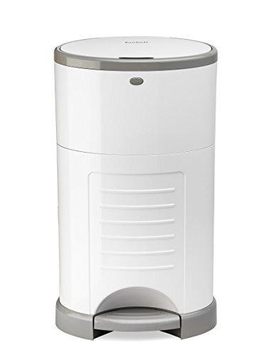 日本育児 Color Korbell おむつポット 本体 ホワイト 収納たっぷり容量16L,おむつ,ゴミ箱,