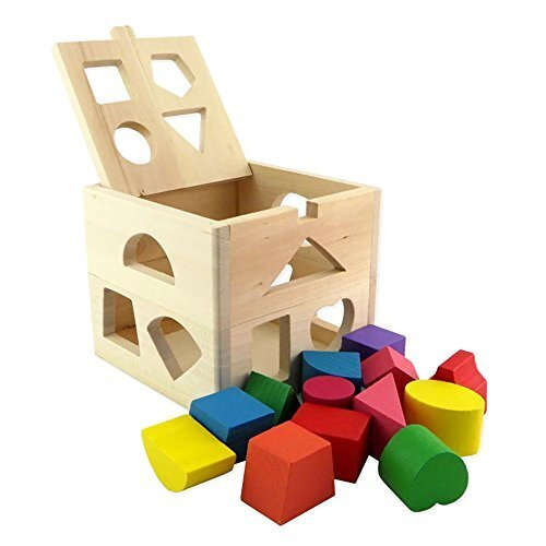 Kayiyasu【カイヤス】キッズ 立体パズル つみきパズル パズルボックス 木製 13ピース 幾何認知 おもちゃ 知育玩具 ラーニング 021-lzgy-d-020(14*12*14cm 画像より ),知育,立体パズル,おもちゃ