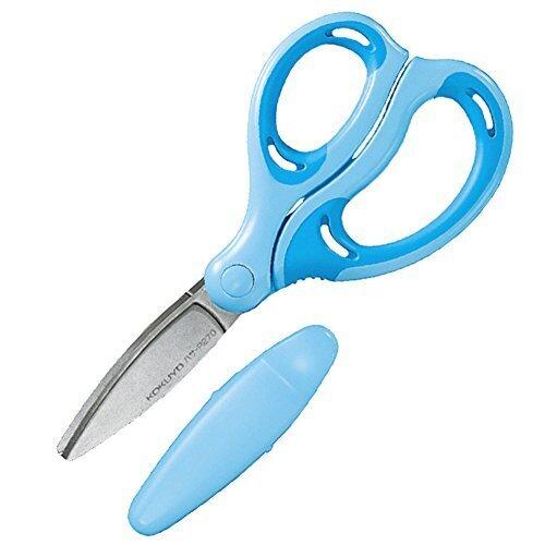 コクヨ 学習 はさみ エアロフィットサクサ キッズ グルーレス刃 右手用 青 ハサ-P270B,はさみ,子ども用,