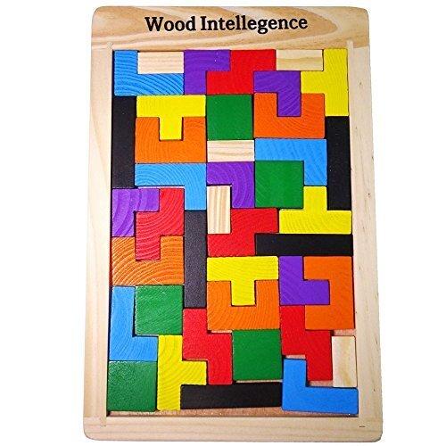 【ルルハウス】 選べるバリエーション ポリオミノ パズル ブロック Russian Block 知育玩具 木製 (ポリオミノ),知育玩具,2歳,