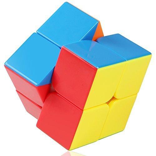VFunix スピードキューブ2×2 競技用ver.2.0 立体パズル 回転スムーズ進化 ポップ防止 知育玩具 蛍光色,知育玩具,2歳,