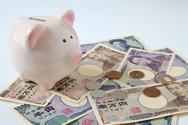 豚の貯金箱とお金,おもちゃ,お金,