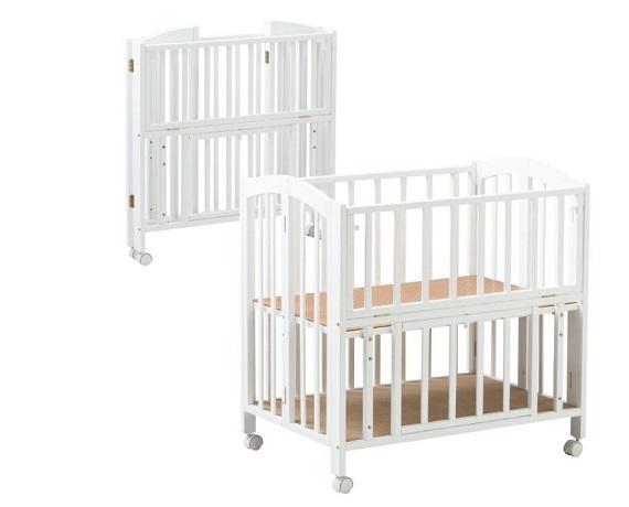 ミニベッド 折りたたみ 収納板付,ベビーベッド,出産準備,赤ちゃん