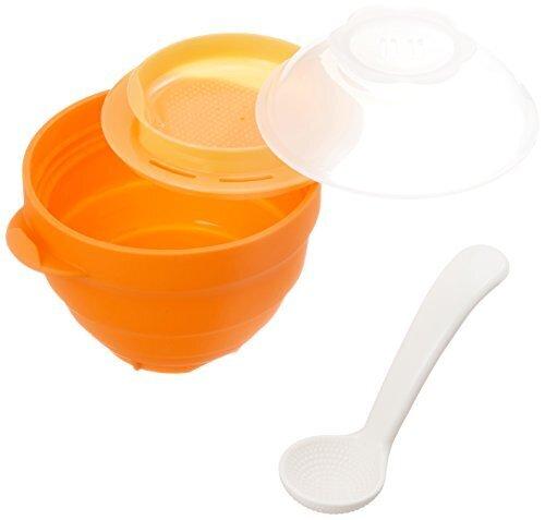 リッチェル Richell 離乳食シリコーンスチーマー オレンジ,おかゆクッカー,