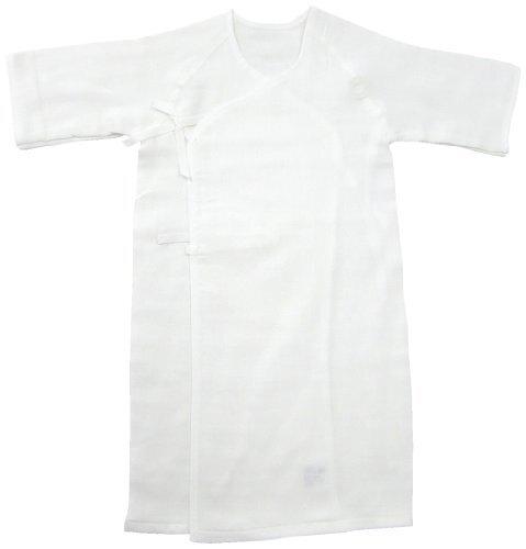 ベビーストーリー ドビー織ガーゼ 長肌着 50cm 白 S7055 日本製,出産準備,品,