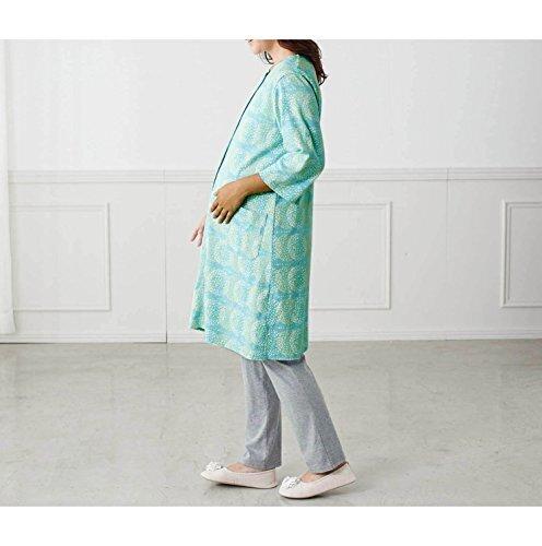 [ベルメゾン] マタニティパジャマ 授乳対応 綿100% 七分袖 産前 産後 前開き ルームウェア・パジャマ アイボリー系 (花柄) マタニティM~L,マタニティパジャマ,パジャマ,