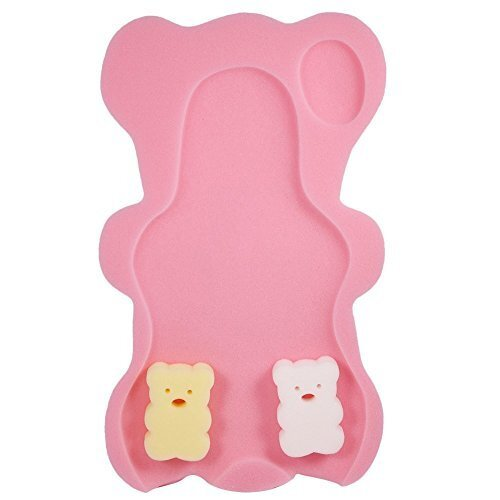Seliyi 赤ちゃん用 お風呂マット 新生児 シャワー スポンジマット おふろ用品 保護 安心 ベビーバス用品,お風呂マット,赤ちゃん,
