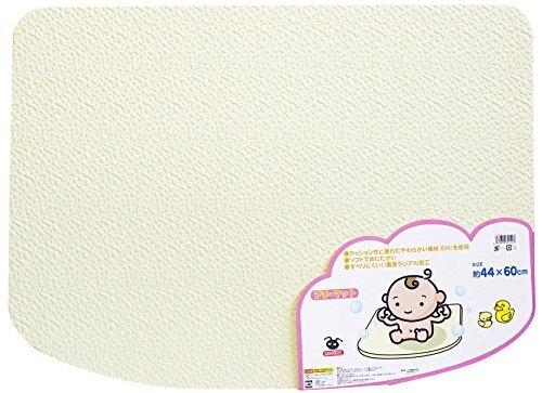 EVA樹脂製 ソフトタイプ 風呂マット プチマット ホワイト,お風呂マット,赤ちゃん,