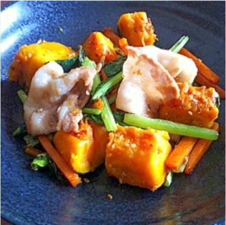 妊婦 食事 レシピ 野菜栄養たっぷり豚バラ炒め,秋,妊婦,レシピ