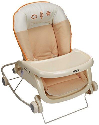 コンビ Combi ローラックチェア プルメア S ペールオレンジ (新生児~2歳頃対象) 多目的ロッキングローラック,ベビーチェア,
