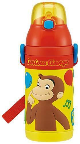 スケーター ステンレス 子供用 水筒 380ml ストロー飲み 3D おさるのジョージ SSPV4,水筒,1歳,